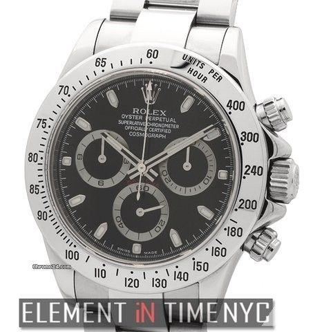 Rolex Daytona Stainless Steel Black Dial Reference #: 116520