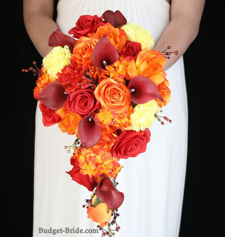 107 best fall wedding flowers images on pinterest bridal for Wedding bouquets for autumn