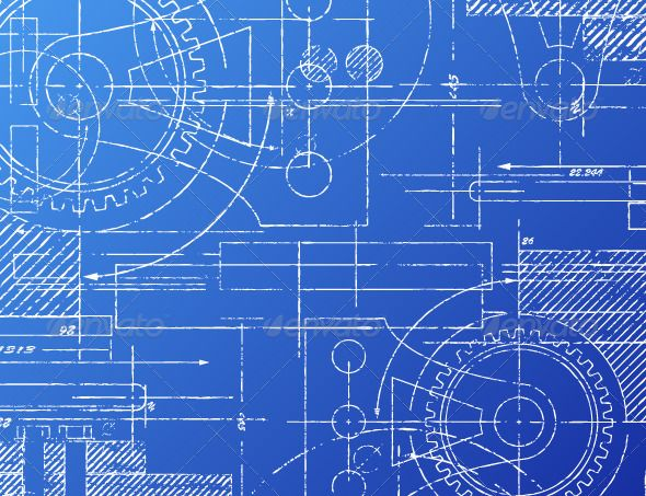Blueprint Architecture Blue Backgrounds And Technology