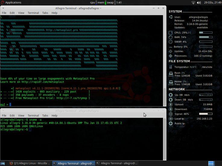 Allegro Linux: OS Baru Untuk Hacker