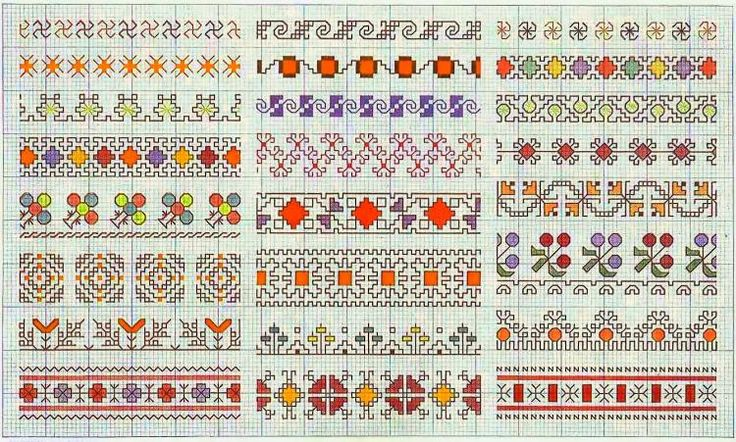 Border 78 | Free chart for cross-stitch, filet crochet | gancedo.eu