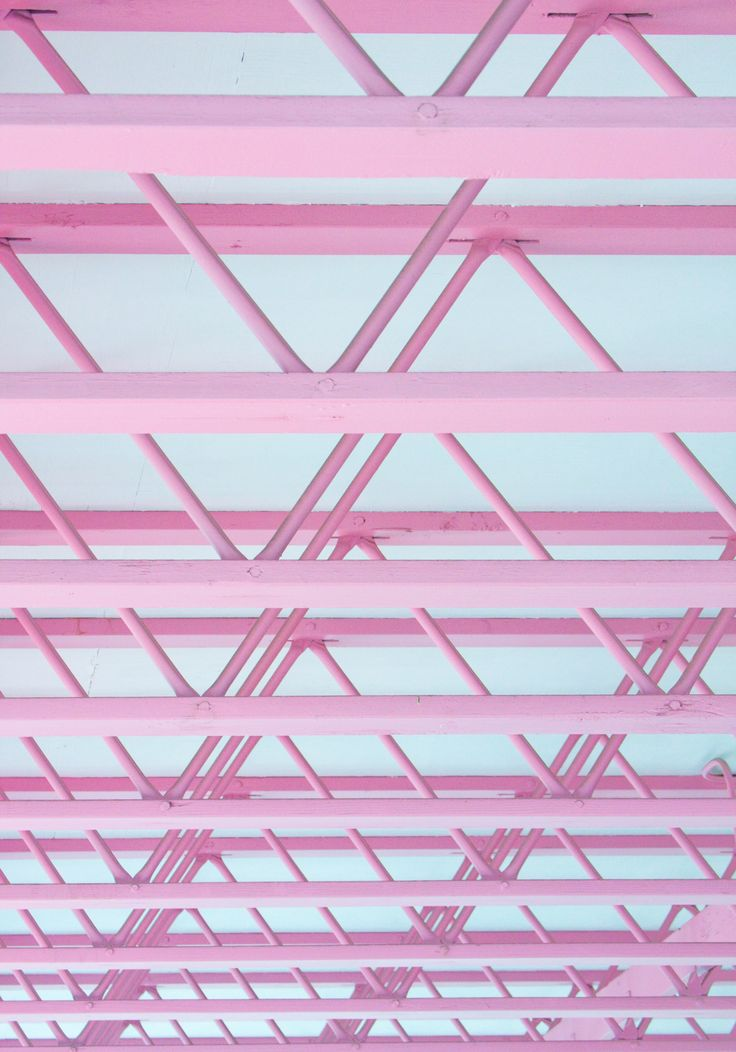 I'd hate to be the one to tell the structural shop to paint everything pink...  Looks cool, though #popofcolor structural support