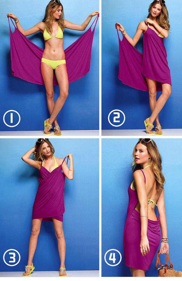 Envío gratis de verano 2013 sólido de la mujer vestido de bikini, playa de vacaciones falda vestido casual. Playa de la falda del abrigo