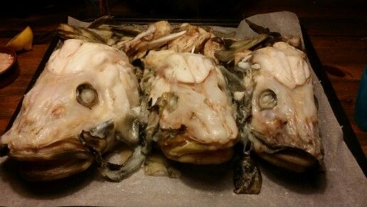 Cod heads served with hollandaise and biodynamic root fruits. Food to the bone.