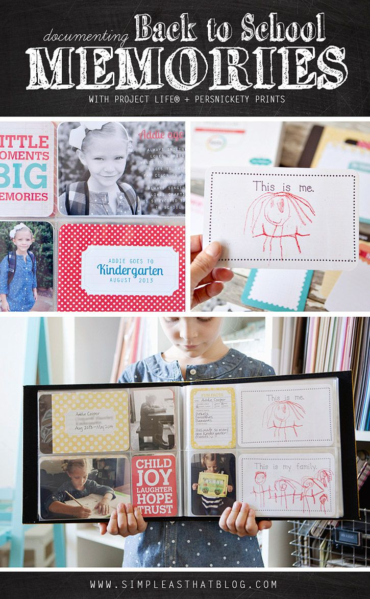 How to make scrapbook for school project - Documenting School Memories With Project Life School Scrapbookschool Memoriesproject Lifescrapbooking Ideasschool