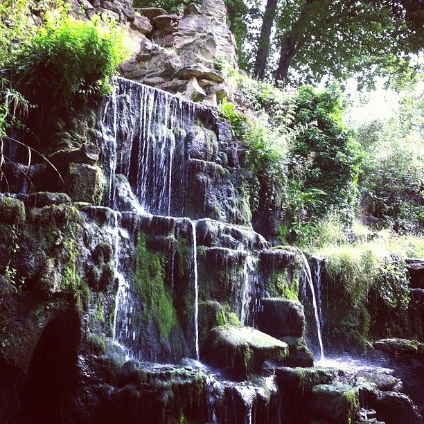 waterfall at Bowood House and Gardens