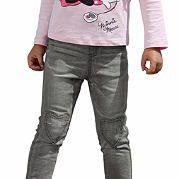 """Марка Kidoki представила джинсы, которые станут любимой вещью на каждый день для вашей девочки. Узкий фасон на удобном поясе-резинке стандартной высоты (регулируется с изнанки) сидит просто замечательно. Нашивки-сердечки и контрастная строчка на коленях, а также """"стираный"""" эффект являются стильными декоративными штрихами. 5 карманов (закругленные, 1 для мелочи, накладные) отдают дань классике. Стрейчевый хлопок на подкладке не будет раздражать кожу. за 2299р.- от Otto"""