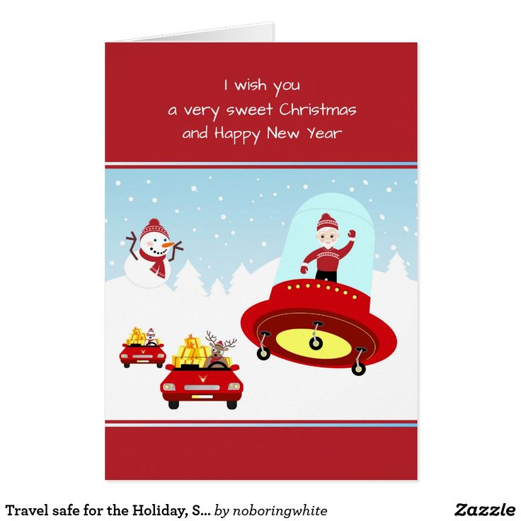 shop travel safe for the holiday santa card created by noboringwhite