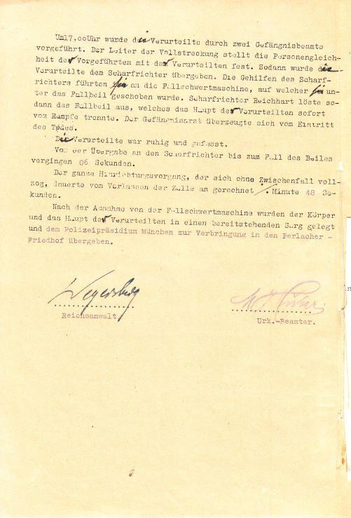 """Bundesarchiv - Sophie Scholl (""""Die Verurteilte war ruhig und gefasst."""")"""