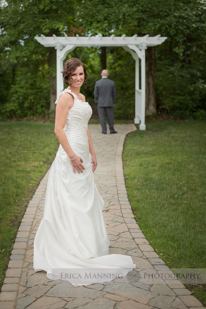 The Bride just before she surprises the Groom at Brookshire