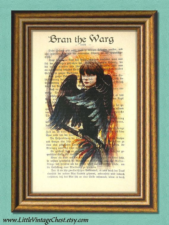 Game of Thrones BRAN the WARG  Dictionary by littlevintagechest, $7.99