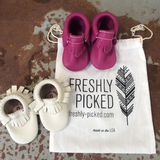 Gifts for Baby Girls - Freshly Picked moccasins | Molly Sims