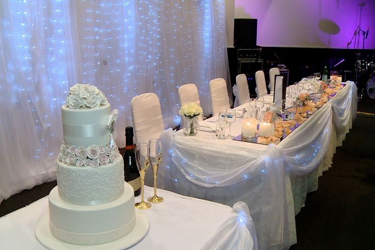 Cake and bridal table decoration for wedding reception at Donato Reception Center www.houseofthebride.com.au