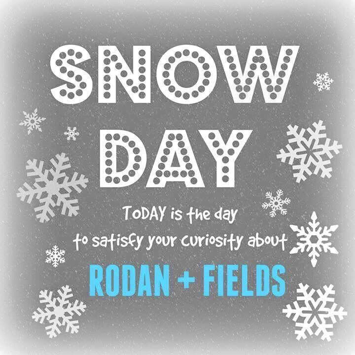 Snowed Days! A great day to get your questions answered about Rodan + Fields from me and let's chat…https://amandaarton.myrandf.com