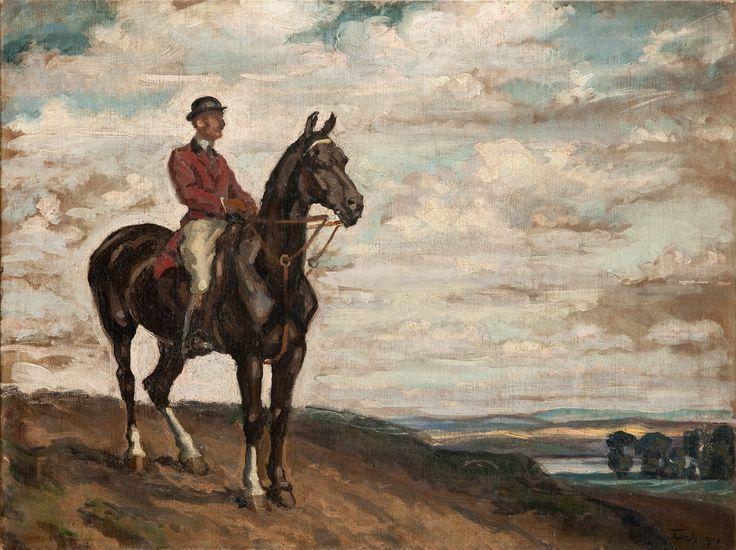 Fryderyk Pautsch - Jeździec na koniu, 1908 r.