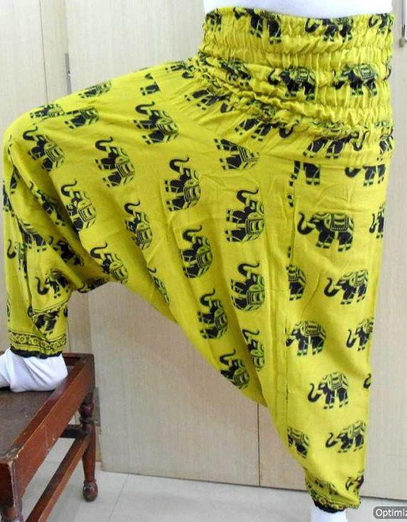 Harem genie boho gypsy baggy elephant organic cotton pants bohemian pluderhosen pumphosen alladin afghani