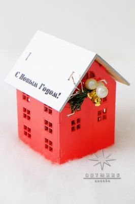 Подарок на новый год. Новогодний сувенир домик светильник. Цена 2100 ք  Арт: 77704
