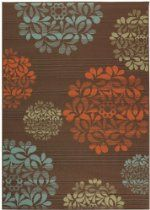 "Hilo Ii Area Outdoor Area Rug, 3'7""x5'6"", BROWN"
