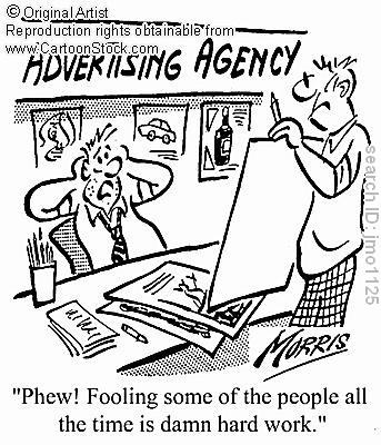 Advertisements are deceiving, most of the time they know how to get in our head.  They use ethos, pathos, and logos to convince us that their product is reliable. The actual advertisement agencies spend a lot of time figuring out how their ads can be more effective. These agencies are paid a lot of money to fool us and because we buy into it they excel in doing so.