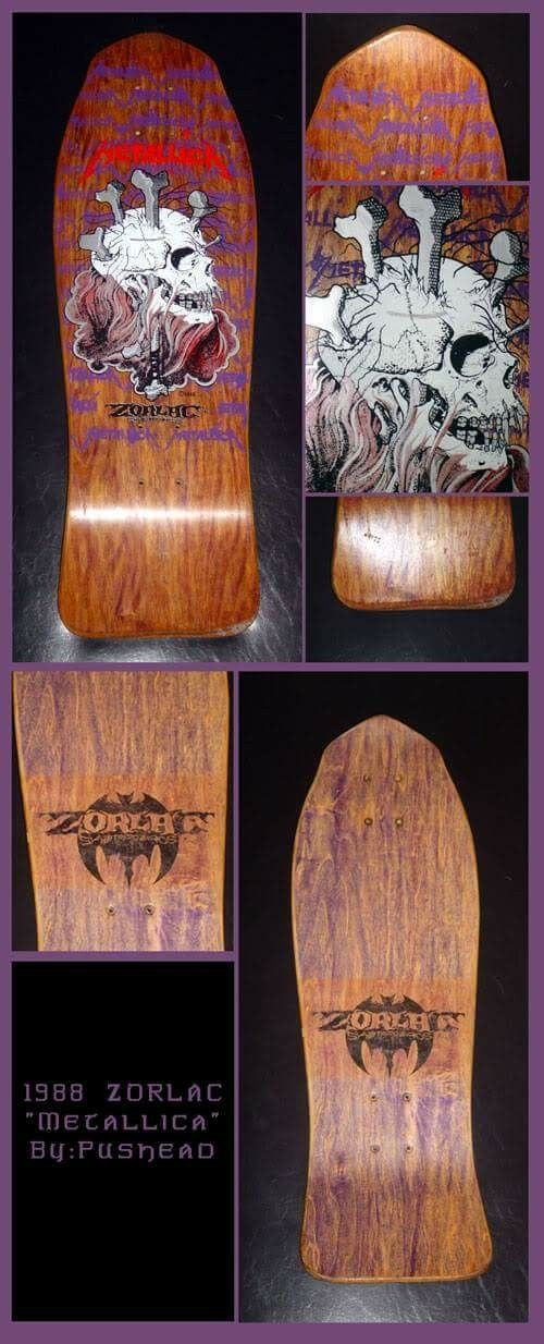 NOS Zorlac Metallica skull and bones deck. Love that stain!!!