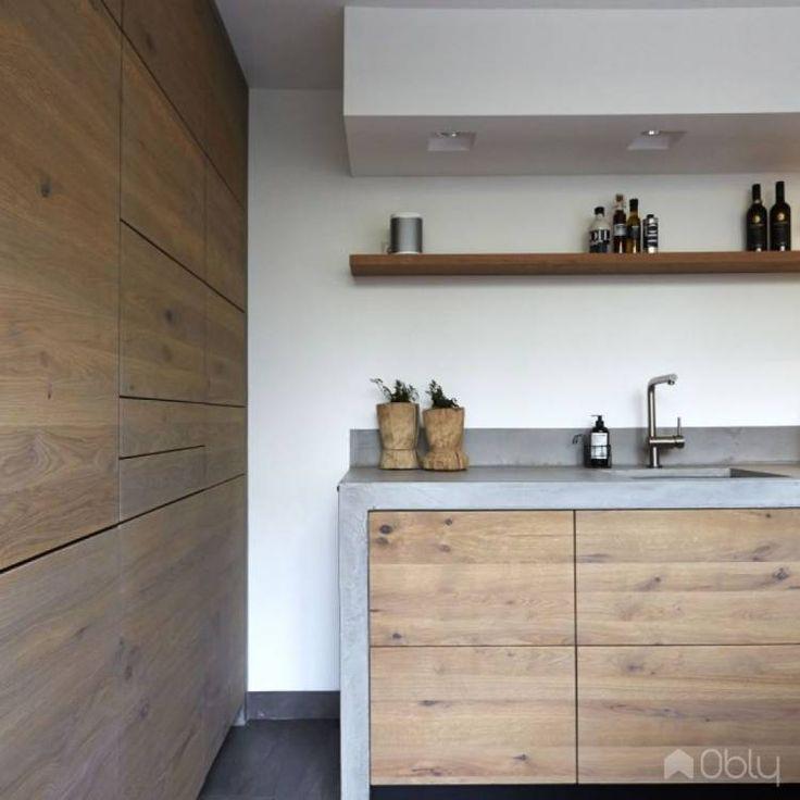 Keuken Betonstuc & Hout