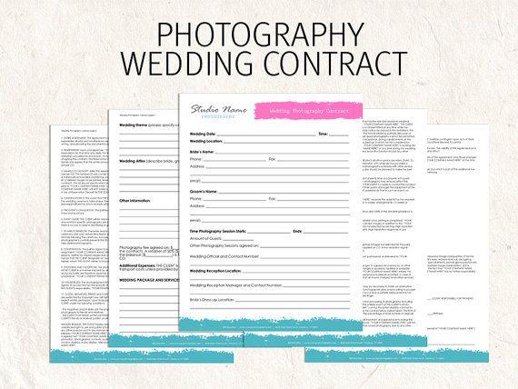 Wedding Photography Contract Example: Printable Sample Wedding Photography Contract Template