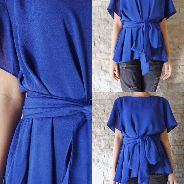 Olivia Top in Electric Blue - Check our Instagram @kala.id