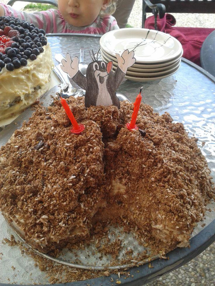 Narozeninový Raw Krtkův dortík <3