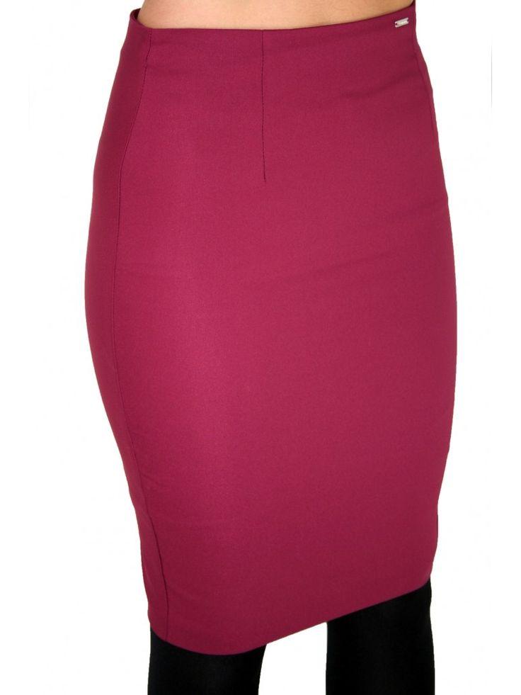 BSB Ψηλόμεση pencil ελαστική φούστα, μπορντό χρώμα. 54,90 €