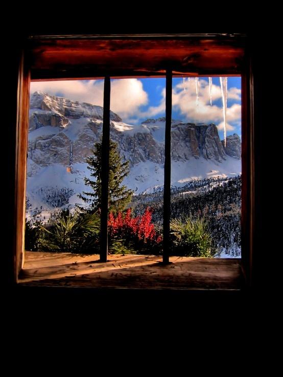 Alta Badia, Alps, Italy, Mountain, Through the Window, Nature