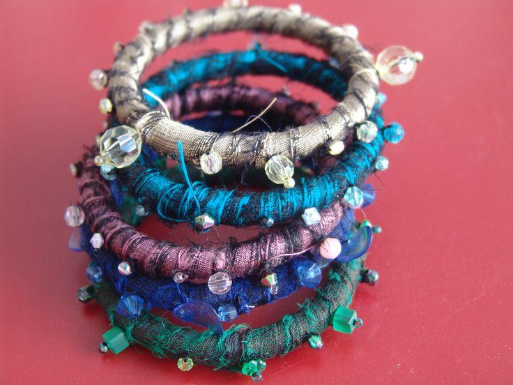 Playful boho-Indian bracelets by CreationsbyTzeniKa   Created by JKa. Available at https://www.etsy.com/listing/238057884/indian-bracelets?ref=shop_home_active_1 #CreationsbyTzeniKa