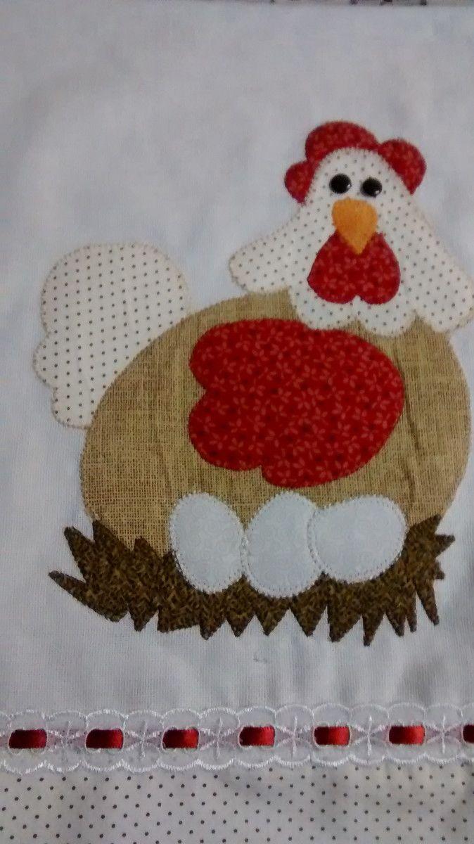 lindo guardanapo de galinha