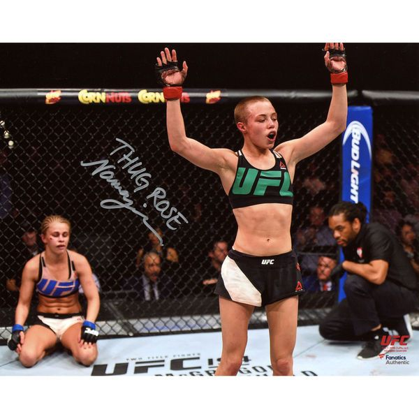 "Rose Namajunas Ultimate Fighting Championship Fanatics Authentic  Autographed 8"" x 10"" Raising Arms Photograph - $39.99"