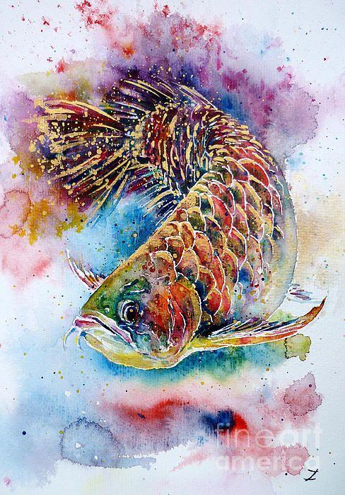 Magic of Arowana. Watercolor by Zaira Dzhaubaeva.