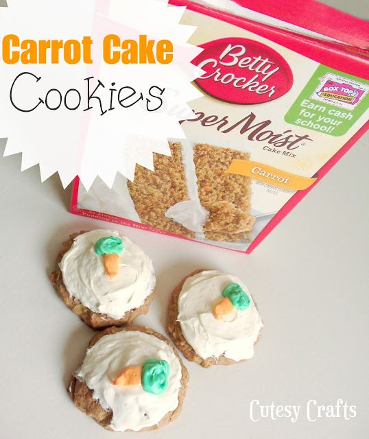 Carrot Cake Cookies from a box of cake mix.