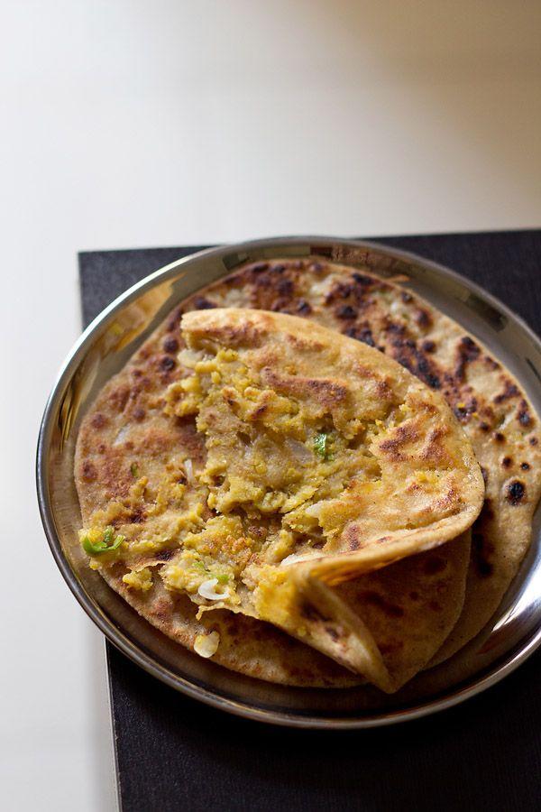 chana dal paratha recipe, chana dal paratha (use oil to make this vegan) www.vegrecipesofindia.com/chana-dal-paratha-recipe/