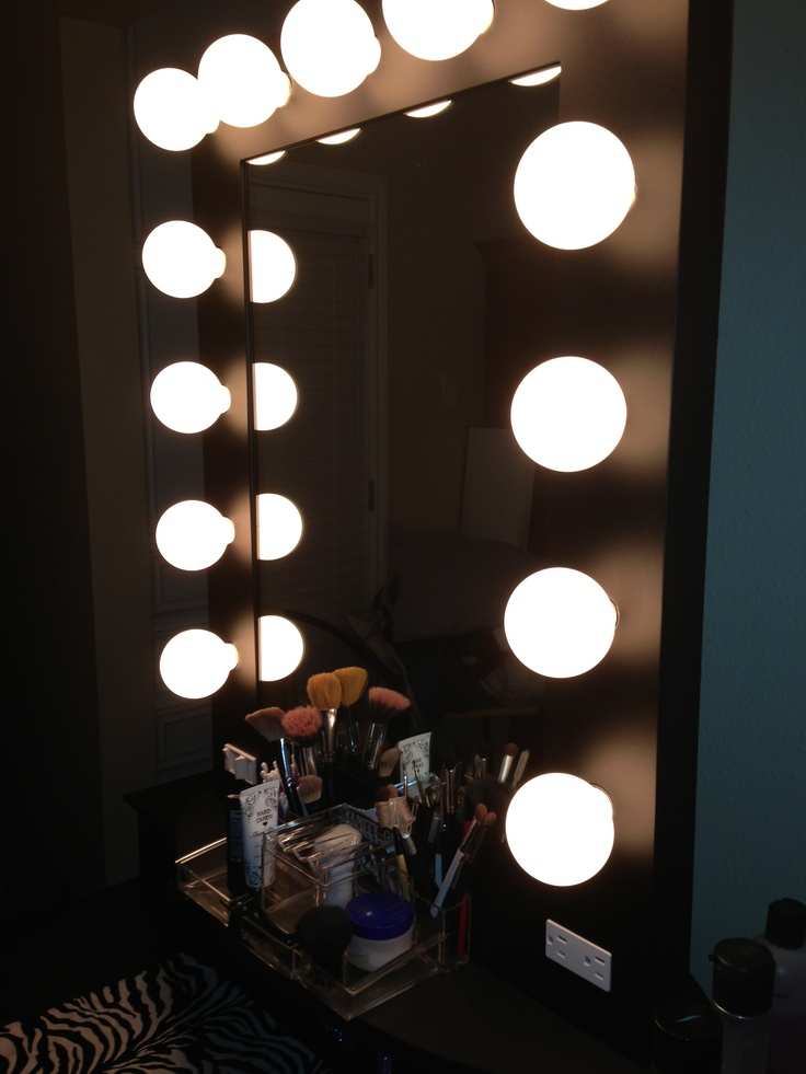 Hollywood Makeup Vanity Lights : Hollywood vanity mirror