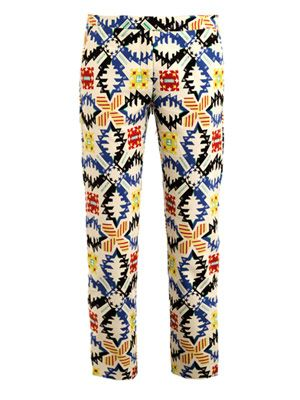 Aztec print trousers  MSGM | MATCHESFASHION.COM