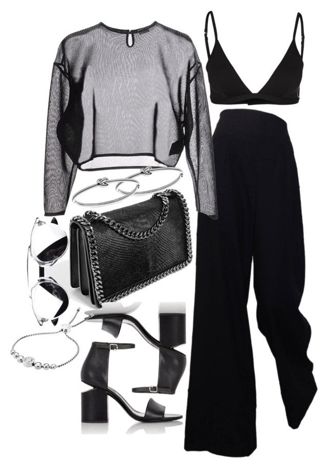 """""""Untitled #2003"""" by sarah-ihab ❤ liked on Polyvore featuring The Row, Bandolera, GUESS, Yves Saint Laurent, Alexander Wang and Michael Kors"""