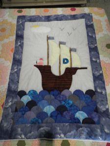 Colcha patchwork barco pirata 2014