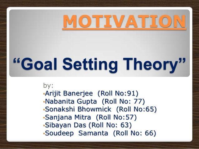 MCII / Goals -Motivation (goal setting) By IISWBM students