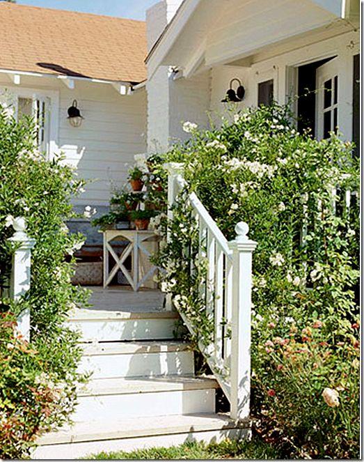 Pretty porchboxes living decks pretty porches jewels for Front entry decks