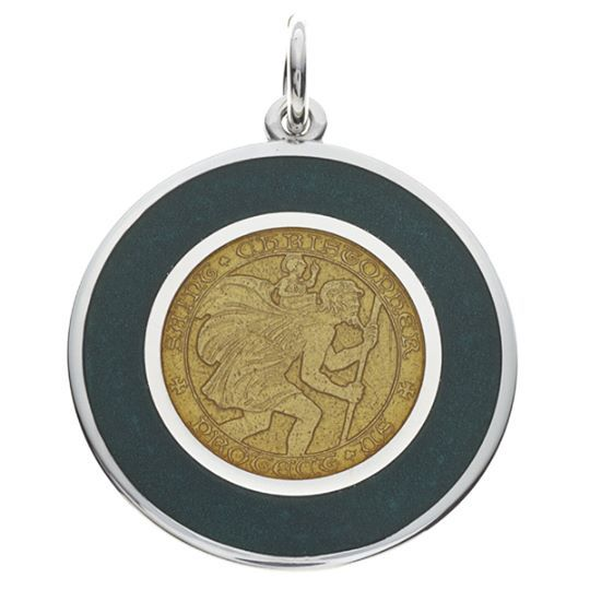 We've got a big away game tomorrow! Our Green & Gold St. Christopher medal, patron saint of safe travels, is the perfect accessory for all of your away games!  #gopackgo #greenbay #GreenBayPackers #football #necklace #pendants