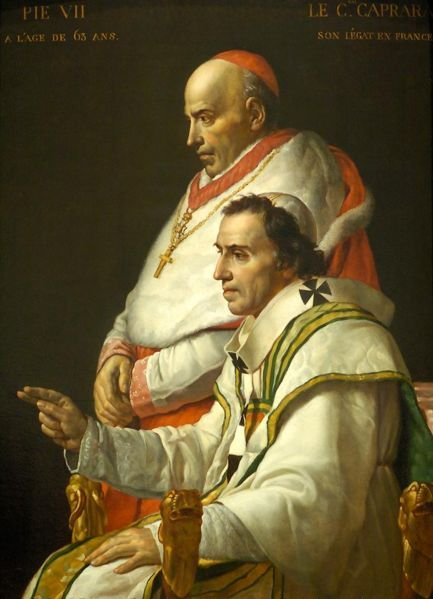 Pope Pius VII in an age of revolution, kidnapped by Napoleon ... http://corjesusacratissimum.org/2014/02/life-pope-pius-ix-early-years-christendom-despoiled/