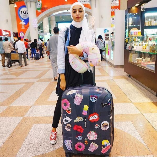 نتيجة بحث الصور عن بنات محجبة في المطار Fashion Backpack Fashion Backpacks