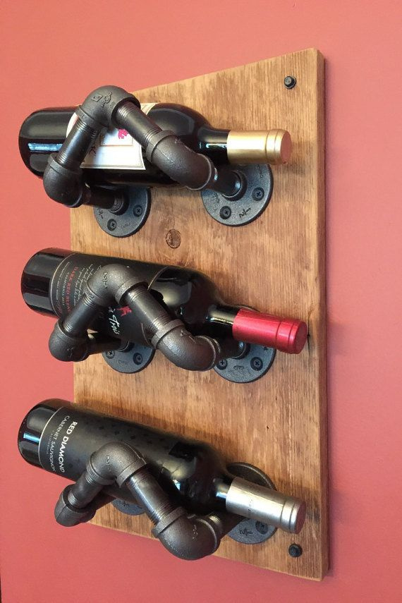 Industrial Pipe Wine Rack por CaseConcepts2000 en Etsy