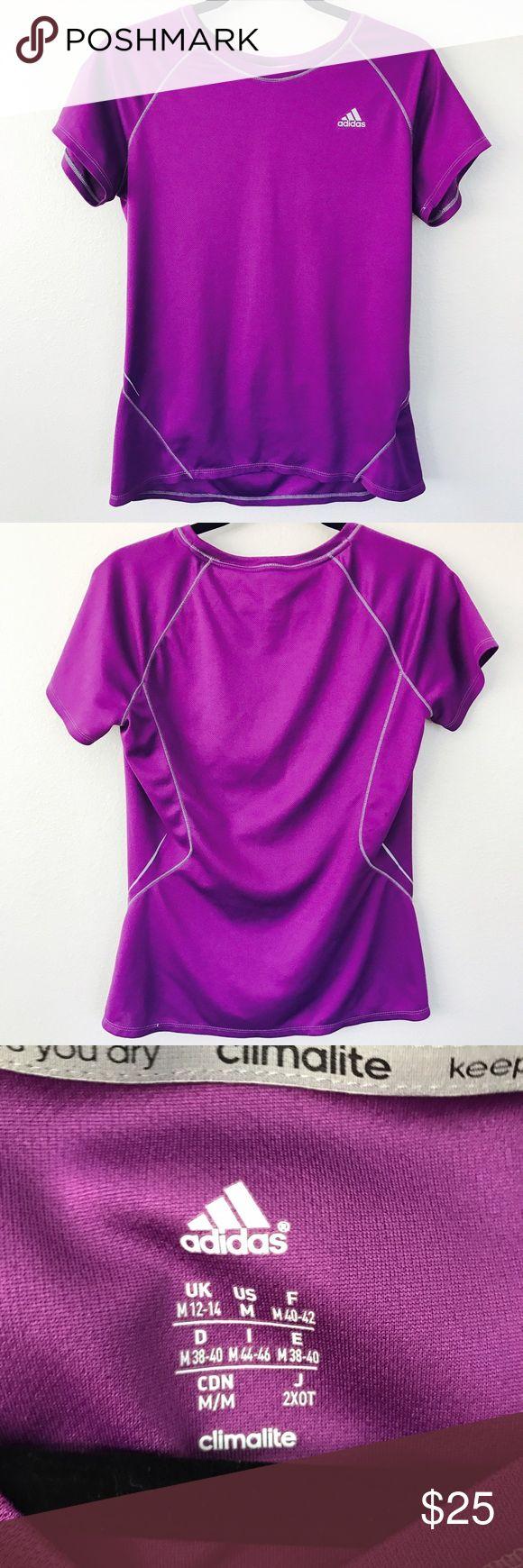 💥Adidas women's workout shirt Purple Adidas workout shirt adidas Tops Tees - Short Sleeve