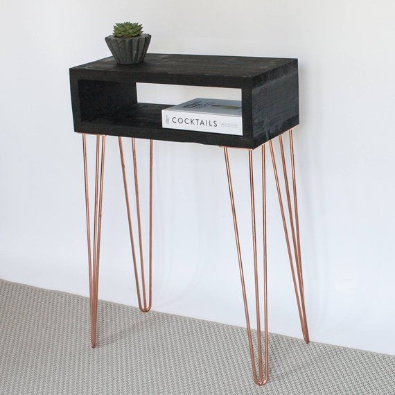 Taylor Console Table Hairpin Legs Minimal Copper Hairpin Etsy