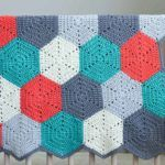 """""""Happy Hexagons"""" Free Crochet Afghan Pattern how to half a hex"""