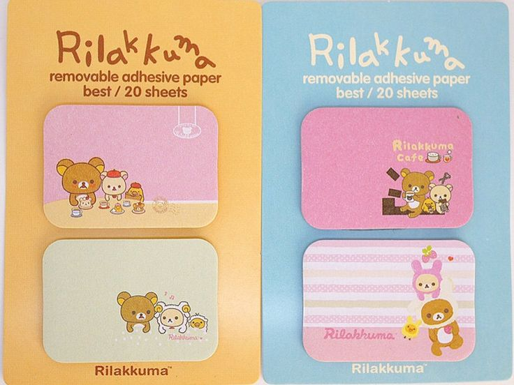 Kawaii RILAKKUMA Japanese cartoon cute MINI sticky notes memo pad stationery planner DIY by MyChildhoodDream on Etsy https://www.etsy.com/listing/250276675/kawaii-rilakkuma-japanese-cartoon-cute